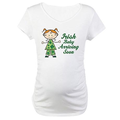 Irish Baby Red Hair Maternity T-Shirt