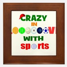 Crazy in love with sports Framed Tile