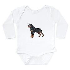 Rottweiler Long Sleeve Infant Bodysuit