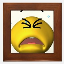 Silly Cry Baby Face Framed Tile