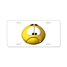 Goofy Sad Face Aluminum License Plate