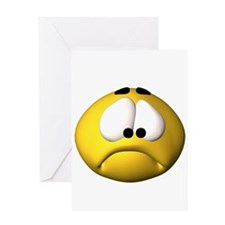 Goofy Sad Face Greeting Card