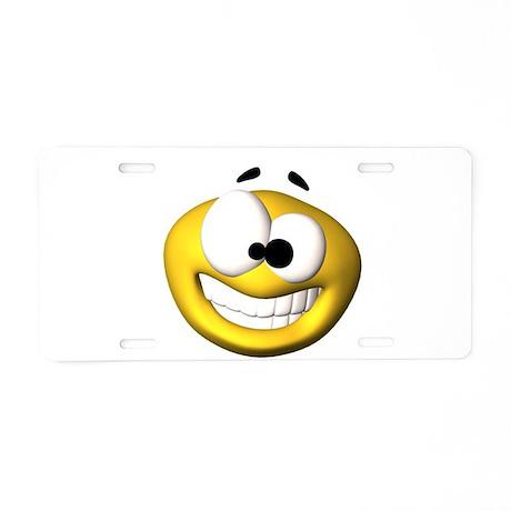 Goofy Happy Face Aluminum License Plate