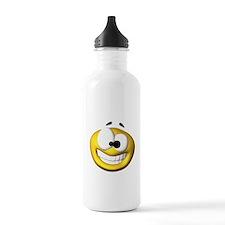Goofy Happy Face Water Bottle