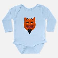 Happy Devil Face Long Sleeve Infant Bodysuit