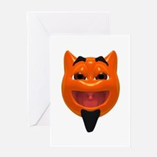 Happy Devil Face Greeting Card