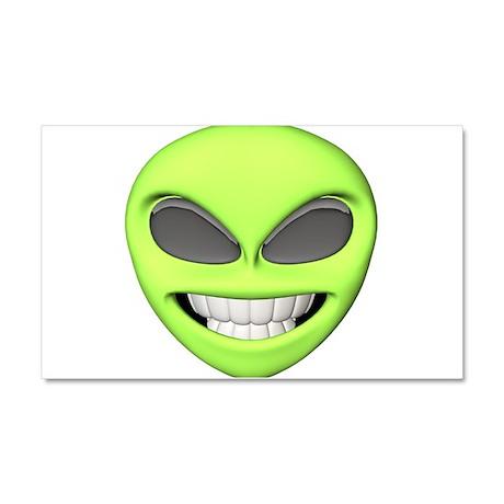 Cheesy Smile Alien Face Car Magnet 20 x 12