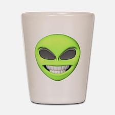 Cheesy Smile Alien Face Shot Glass