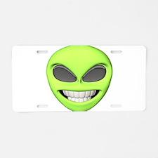 Cheesy Smile Alien Face Aluminum License Plate