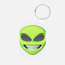 Cheesy Smile Alien Face Keychains