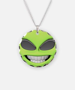 Cheesy Smile Alien Face Necklace