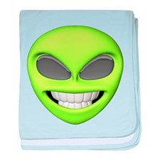 Cheesy Smile Alien Face baby blanket