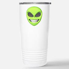 Cheesy Smile Alien Face Stainless Steel Travel Mug