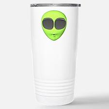 Big Eyed Alien Face Stainless Steel Travel Mug