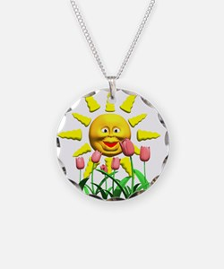 Happy Sun and Tulips Necklace
