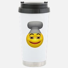 Chef Hat Face Stainless Steel Travel Mug