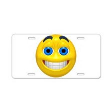 Happy Cheesy Face Aluminum License Plate