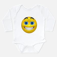 Happy Cheesy Face Long Sleeve Infant Bodysuit