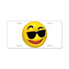 Cool Shades Face Aluminum License Plate