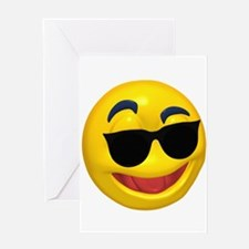 Cool Shades Face Greeting Card