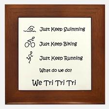 Just Keep Tri-ing Framed Tile