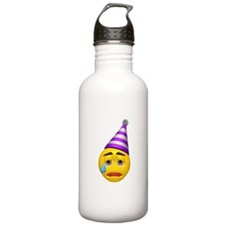 Crying Party Hat Face Water Bottle