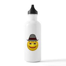 Derby Hat Happy Face Water Bottle