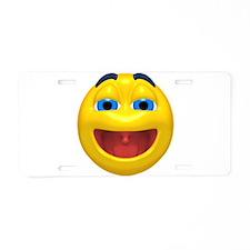 Super Happy Face Aluminum License Plate