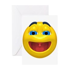 Super Happy Face Greeting Card