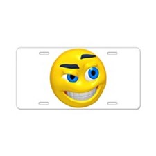 Up to No Good Face Aluminum License Plate