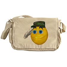 Saluting Soldier Face Messenger Bag