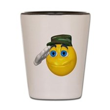 Saluting Soldier Face Shot Glass