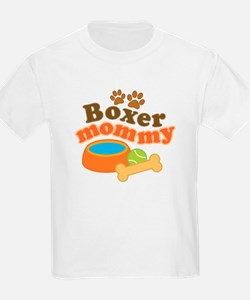 Boxer Mommy Pet Gift T-Shirt