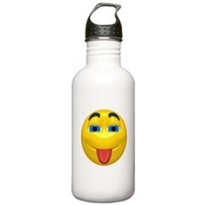 Cute Tongue Out Face Water Bottle