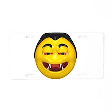 Laughing Vampire Face Aluminum License Plate
