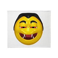 Laughing Vampire Face Throw Blanket
