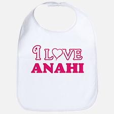 I Love Anahi Baby Bib