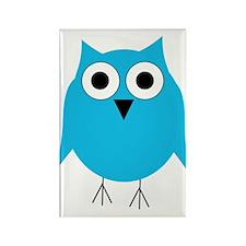 Light Blue Owl Rectangle Magnet