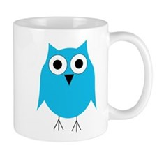 Light Blue Owl Mug