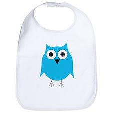 Light Blue Owl Bib