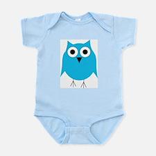 Light Blue Owl Infant Bodysuit