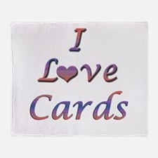 I Love Cards Throw Blanket
