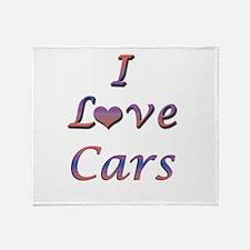 I Love Cars Throw Blanket