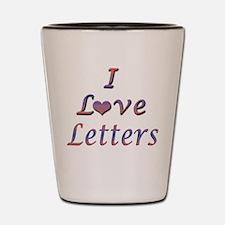 I Love Letters Shot Glass