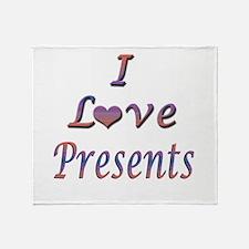 I Love Presents Throw Blanket