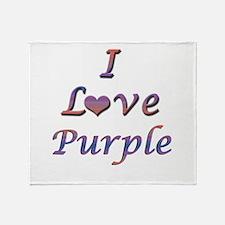 I Love Purple Throw Blanket