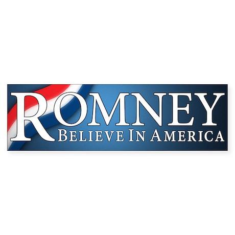Mitt Romney 2012 Sticker (Bumper)