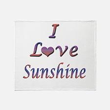 I Love Sunshine Throw Blanket