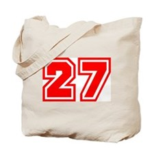 Varsity Uniform Number 27 (Red) Tote Bag