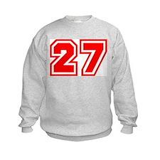 Varsity Uniform Number 27 (Red) Sweatshirt
